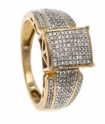 Brilliant ring 375/000 with 196 diamonds, 0.25 ct total W / SI, ring size 53, 3.9 gBrillant-Ring