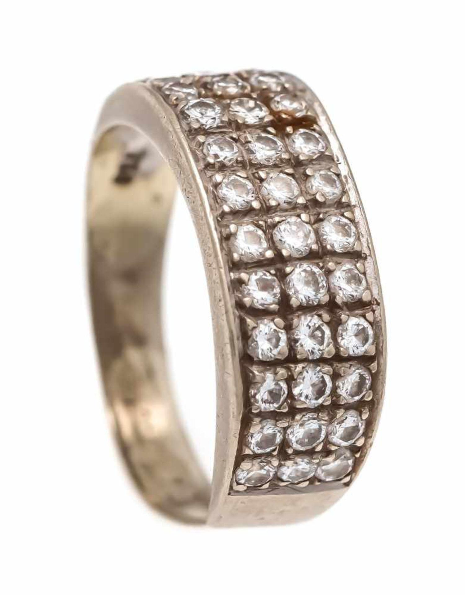 Brillant-Ring WG 750/000 mit 36 Brillanten, zus. 0,50 ct W/SI, RG 55, 4,2 gBrilliant ring WG 750/000
