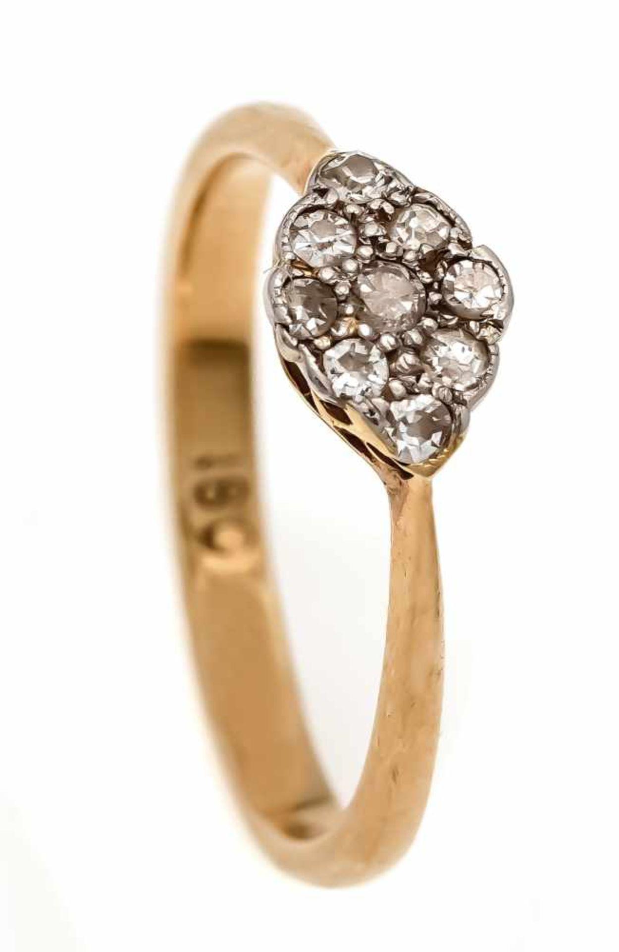 Diamant-Ring GG/WG 750/000 mit Diamanten, zus. 0,12 ct l.get.W-W/SI-PI, RG 51, 2,4 gDiamond ring