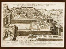 """Zwei Stiche aus dem """"Speculum Romanae Magnificentiae"""" von Lafreri: """"Theatrum Marcelli"""","""