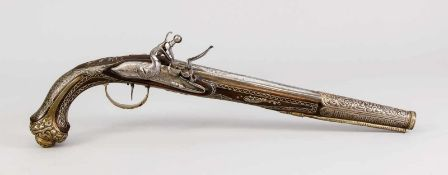 Steinschlosspistole, europäisch (für den osmanischen Markt hergestellt), 18. Jh., Schaft