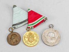 2 Orden, Bulgarien 1. WK, für Verdienste, Ferdinand I Zar von Bulgarien, Medaille Ro deo