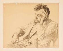 Otto Greiner (1869-1916), Portrait des Leipziger Künstlers Prof. Paul Horst-Schulze,
