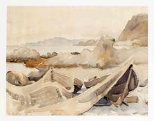 Ilse Tesdorpf-Edens (1892-1966), Hamburger Malerin, norddeutsche Küstenlandschaft,