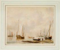 J. Schouman nach Martinus Schouman (1770-1848), anlandende Großsegler vor der Küste,
