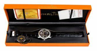 Stührling Herrenuhr, Handaufzug Cal. ST-99211, skelettiertes Uhrwerk mit kleiner Sekunde