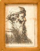 Joseph Georg Winter (1751-1789), Münchner Jagdmaler und Grafiker. Bildnis eines bärtigen