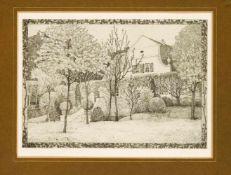 """Heinrich Vogeler (1872-1942), """"Barkenhoff"""", Radierung, u. re. in der Platte monogr. u."""