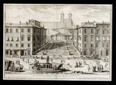 Giuseppe Vasi (1710-1782), ital Grafiker und Lehrer von Piranesi. Große Ansicht der