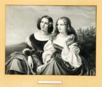 """Carl Wildt (ca.1830-1870) nach Carl Ferdinand Sohn (1805-1867), """"Die Geschwister"""","""