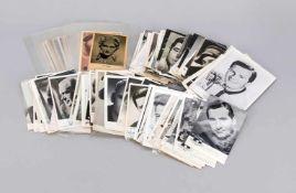 128 Schauspieler-Karten, 20. Jh., davon einige eingeschweißt. Viele mit
