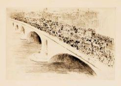 Konvolut Künstlergrafik 1. H. 20. Jh., 4-tlg.: Paul Paeschke (1875-1943), Ansicht der