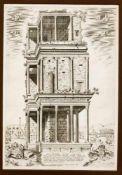 "Zwei Stiche aus dem ""Speculum Romanae Magnificentiae"" von Lafreri: ""Luci Septimii Severi"