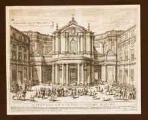 Jacobus de Rubeis (1626-1691), Ansicht der Kirche Santa Maria della Pace in Rom