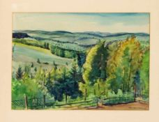 Fritz Preiss (1883-1943), dt. Maler aus Stettin. Konvolut von 4 Aquarellen mit