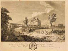 """Konvolut illustrative Grafik des 18./19. Jh.: Fragment von """"Nuova Raccolta (...) la vita"""