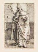 Konvolut von 3 Altmeister-Grafiken: Virgil Solis (1514-1562), Landsknecht mit Bidenhänder,