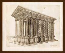"""Zwei Stiche aus dem """"Speculum Romanae Magnificentiae"""" von Lafreri: Nicolas Beatrizet"""