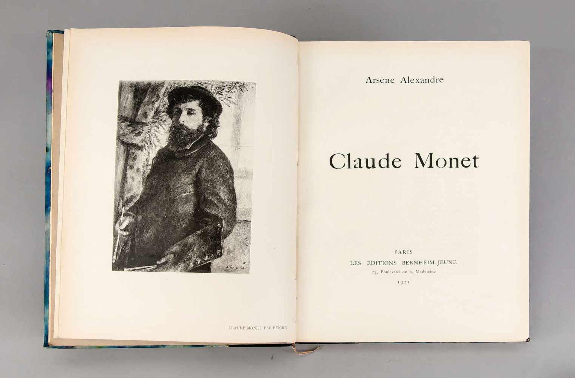 """Claude Monet, Monographie von Arsène Alexandre, in Paris bei """"Bernheim-Jeune"""" 1921,"""