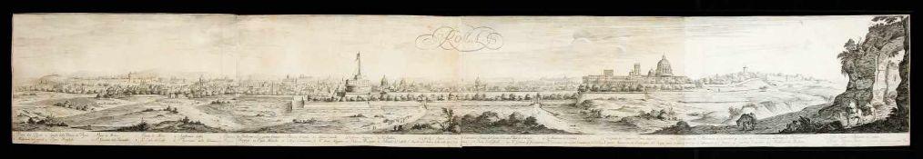 "Großes Panorama von Rom - Israël Silvestre (1621-1691): ""Rome, prise de la porte du"