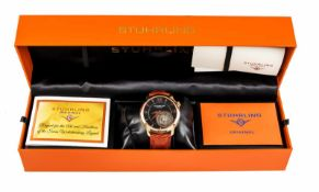 Stührling Tourbillon Herrenuhr, Handaufzug Cal. ST-93300, limited Edition 65/150, rose IP