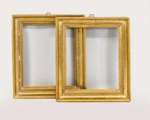 Paar Biedermeier-Rahmen, Deutschland, 19. Jh. Gekehlter, profilierter und leicht