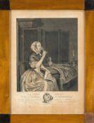 Drei Biedermeier-Bilderrahmen um 1820, einer mit altem Glas, einer mit neuem und eine