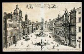 Matteo Gregorio de Rossi (tätig ca. 1668-1696), ital. Stecher von Veduten. Historische