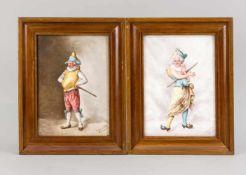 Paar Porzellanbilder, Frankreich, um 1900, re. u. sign. Lévy Laure (1866-1954) und bez.