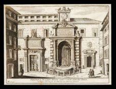 Matteo Gregorio de Rossi (tätig ca.1668-1696), Konvolut von 5 römischen Veduten,