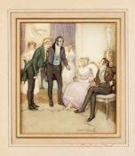 Lewis Baumer (1870-1963), britischer Zeichner, Karikaturist und Illustrator. Galante