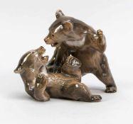 Zwei Kämpfende Bären, Bing & Gröndahl, 1950er Jahre, Modellnr. 1825, naturalistisch