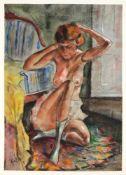 Zaza Tuschmalischvili (*1960), georgischer Maler, tätig in Berlin. Weiblicher Akt,