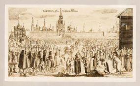 Christian Lorenzen Rothgiesser (?-1659), dt. Kupferstecher in Husum. Der Moskauer Kreml,