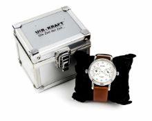 Uhr-kraft, Herrenuhr, GMT, 2 x Automatic, Mod. 19002-5A, Stahlgehäuse poliert sattiniert,