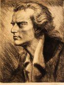 Karl Konrad Friedrich Bauer (1868-1942), Portrait von Friedrich Schiller, große