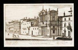 Giovanni Giacomo de Rossi (1627-1691) nach Giovanni Battista Falda (1648-1678), zwei