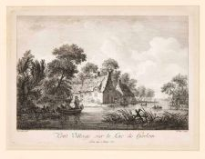 """Jean-Jacques le Veau (1729-1786) nach Franz Edmund Weirotter (1733-1771), """"Petit Village"""