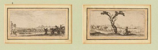 """Stefano della Bella (1610-1664), Blatt 3 und Blatt 5 aus der Folge der """"Dessins de"""