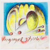 """Rupprecht Geiger (1908-2009), """"Le gugelhubf"""", Mischtechnik mit Collage, farbigen"""