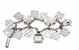 Burberry, Damenquarzuhr, Ref. BU 5260, 2- reihiges Bettelarmband mit eingehängter Uhr und