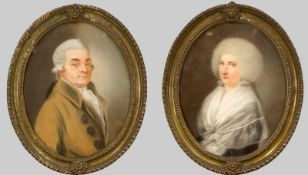 """Berliner Bildnismaler um 1790, """"Großvater und Großmutter des Polizeipräsidenten Karl"""