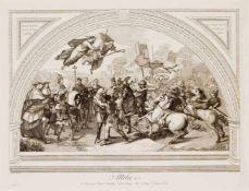 Antonio Banzo (1777-1859), Konvolut von 12 Kupferstichen nach den Fresken von Raffael in