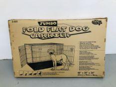 """A PET BRAND JUMBO FOLD FLAT DOG CARRIER 48"""" X 30"""" X 34"""""""
