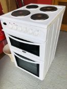 BELLING DOUBLE ELECTRIC OVEN WITH SOLID HOT PLATES - SOLD AS SEEN