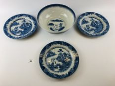 CHINESE BLUE AND WHITE PUNCH BOWL PROBAB