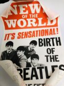 "TWO VINTAGE ""NEWS OF THE WORLD"" BEATLES"