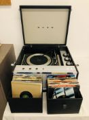 RETRO BUSH RECORD PLAYER & VARIOUS RECORDS - SOLD AS SEEN - COLLECTORS ITEM ONLY