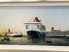 """CLARENDON FINE ART FRAMED PRINT VOYAGE OF ARTISTIC DISCOVERY TITLED """"THE THREE QUEENS AT"""