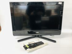 "JVC 26"" TV WITH REMOTE & INSTRUCTIONS - SOLD AS SEEN"
